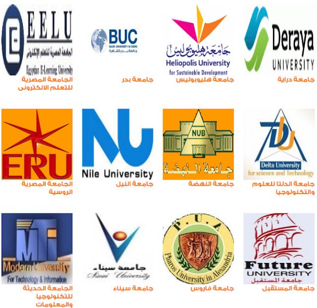 الحد الأدنى للقبول بالجامعات الخاصة 2019/2020 تنسيق الجامعات الخاصة