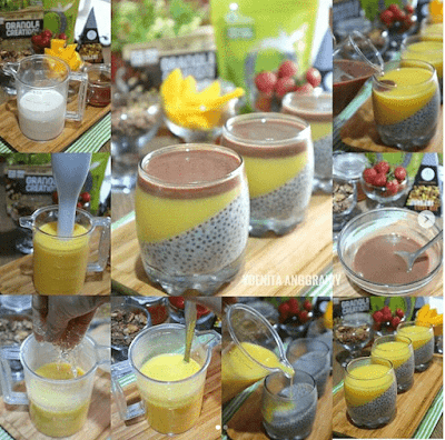 Resep Chocolate Chia Pudding with Mango Puree