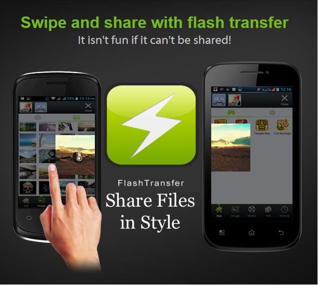 Share Files Using Flash Transfer