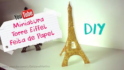 Torre Eiffel de papel Para Decoração ou Lembrancinhas