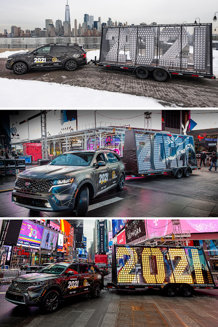 Kia Times Square New Years 2021 Story Telling Machine