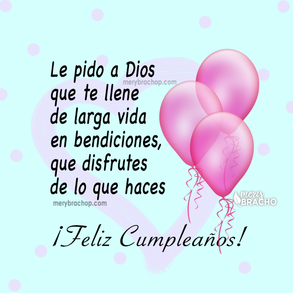 tarjeta con frases de bendiciones hermana feliz cumpleaños para ti