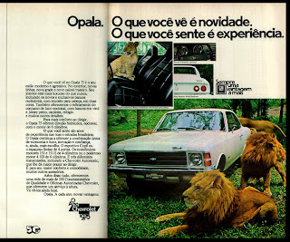 propaganda Chevrolet Opala - 1975. brazilian advertising cars in the 70. os anos 70. história da década de 70; Brazil in the 70s; propaganda carros anos 70; Oswaldo Hernandez;