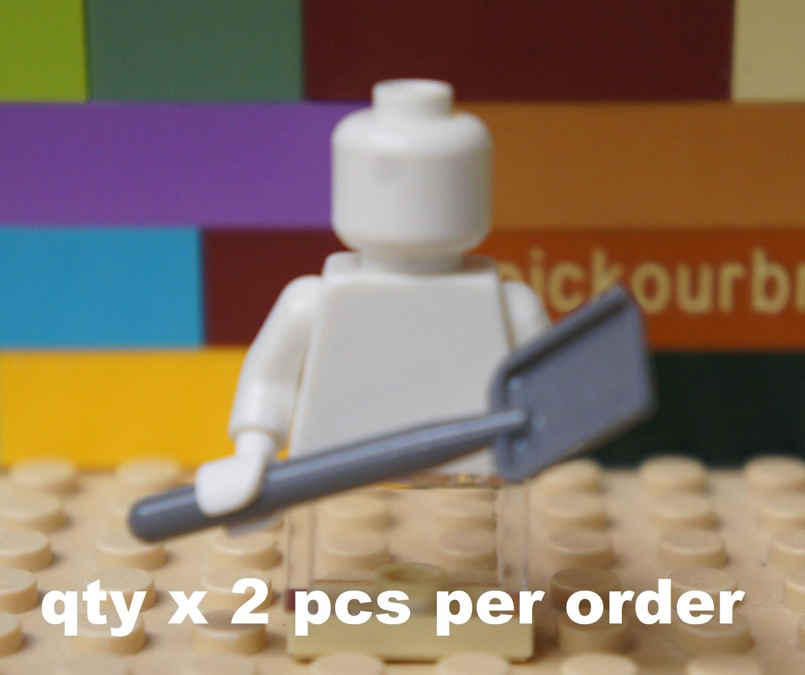 LEGO LOT OF 5 NEW BLACK SHOVELS MINIFIGURE ACCESSORIES PIECES TOOLS
