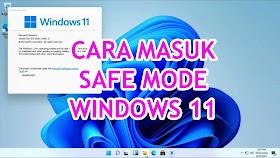 Cara Masuk Safe Mode Windows 11