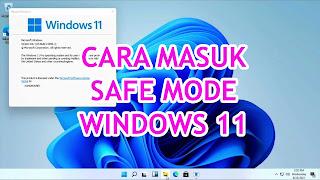 cara masuk windows 11 safe mode
