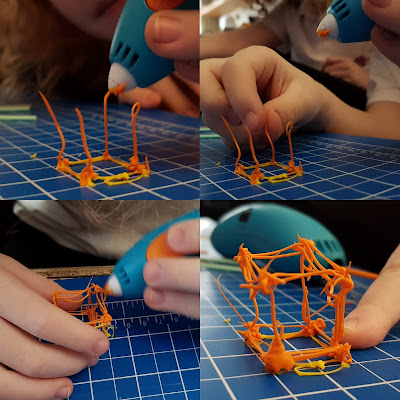 3Doodler Start review making a 3D object cube shape