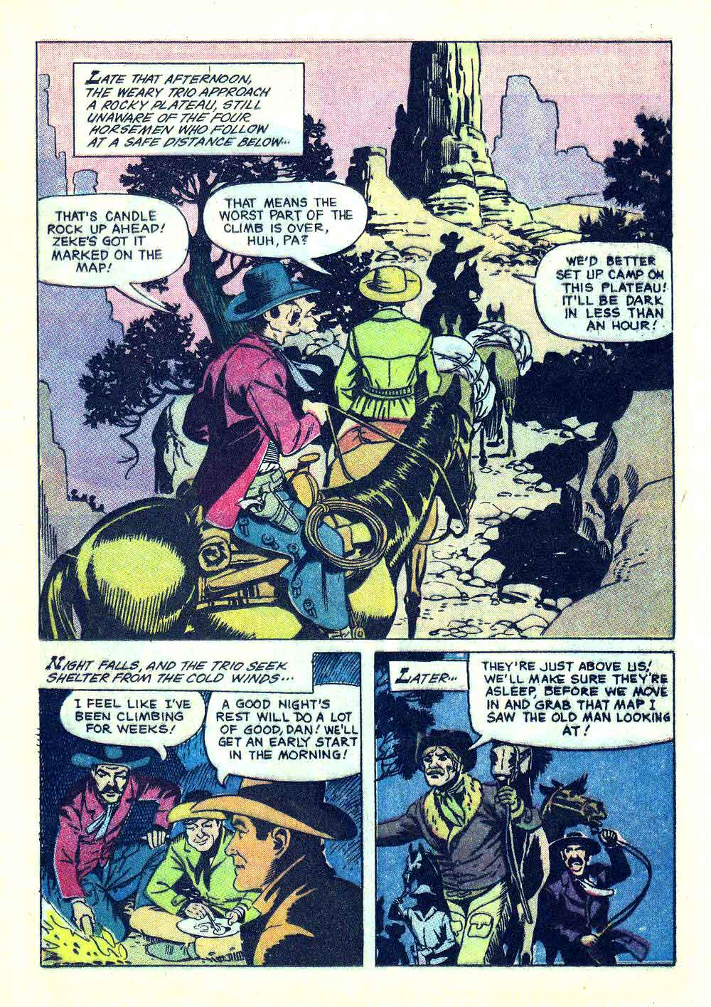 Rex Allen v1 #30 dell western comic book page art by Russ Manning