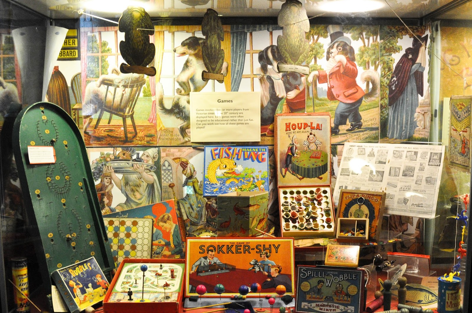 Board games in the museum, Carisbrook Castle, Isle of Wight, UK