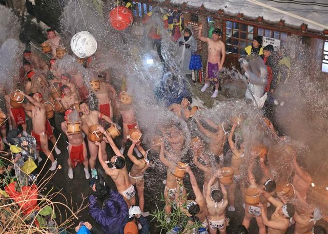 Hot Springs Festival at Kawarayu-Onsen, Gunma Pref.