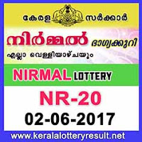 Nirmal Lottery NR-20 Results 2-6-2017
