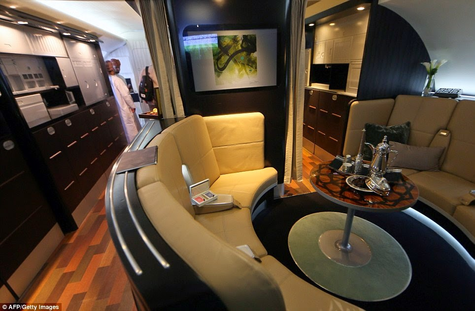 Lounge di Penerbangan Kelas 1 Etihad