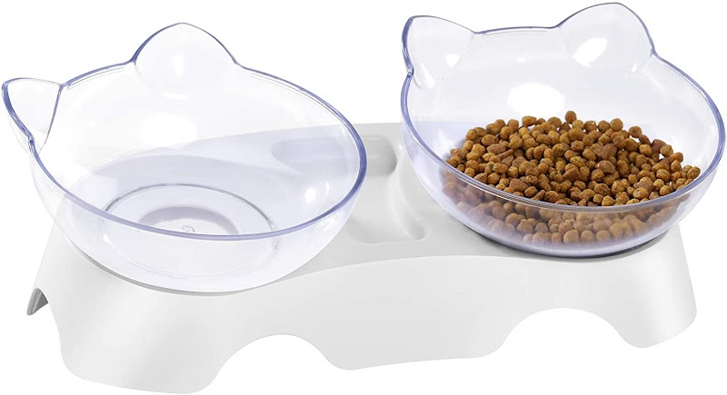50% off Elevated Double Cat Dog Bowls