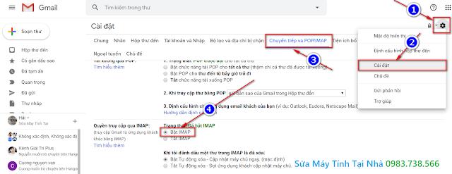 Bật IMAP trong Gmail