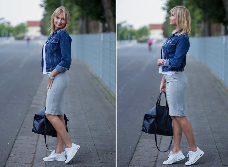 czasnabuty, czas na buty, sneakersy, białe sneakersy, dresowa spodnica, seksowna, torebka shopper, shopper bag