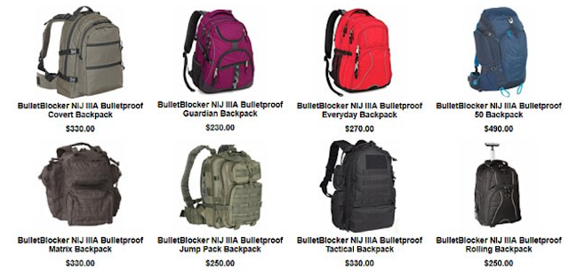 Sales of bulletproof backpacks which cost as much $500 soar by 30 per cent after 18th US school shooting this year left 17 dead