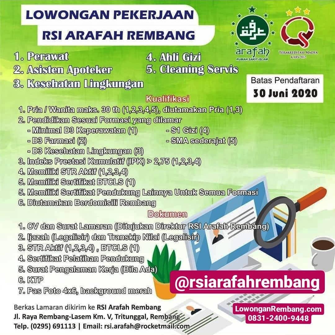 5 Lowongan Kerja Rumah Sakit Islam Arafah Rembang