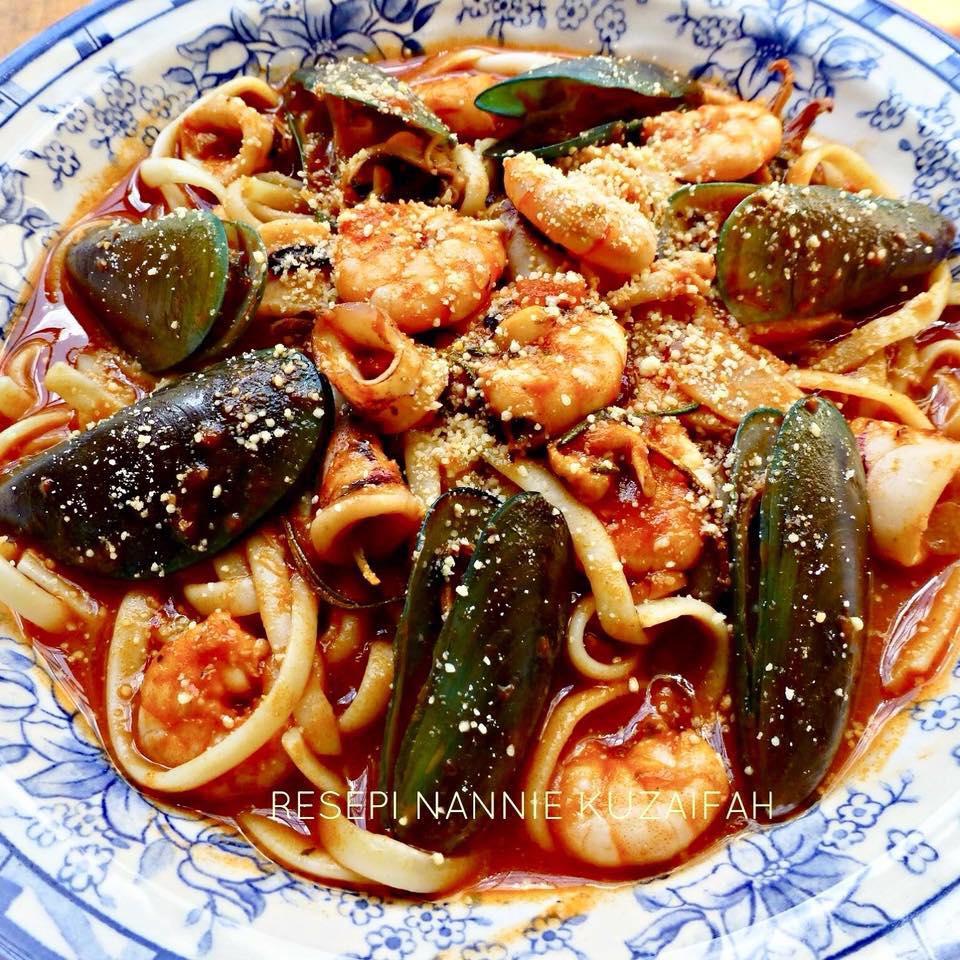 resepi pasta seafood