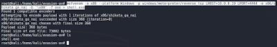 Generar binario malicioso payload meterpreter con msfvenom.