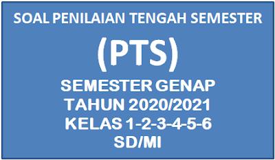 Soal PTS Semester 2 Kelas 1,2,3,4,5,6 SD/MI