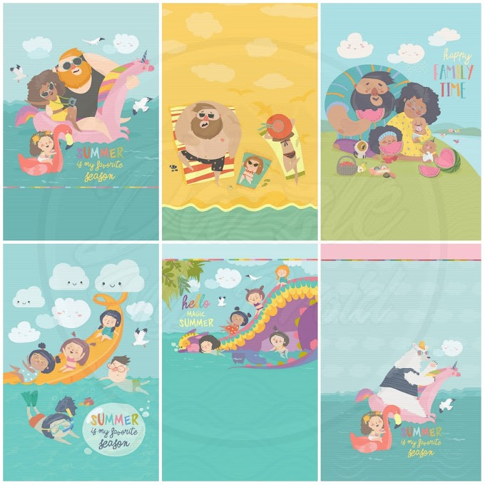 Family Vacation Wallpaper Set