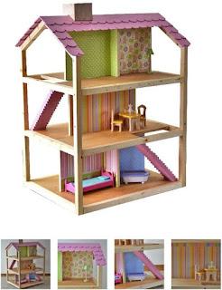 rumah boneka berbahan kayu