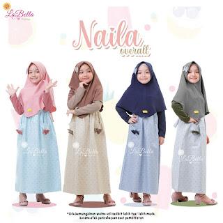 Koleksi Baju Gamis anak LABELLA Terbaru Naila Overall