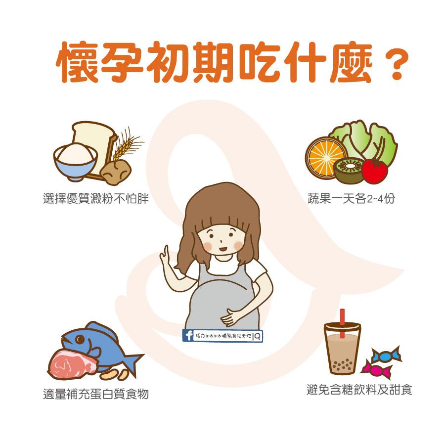 【懷孕初期吃什麼?】0-12週懷孕初期胚胎營養飲食原則