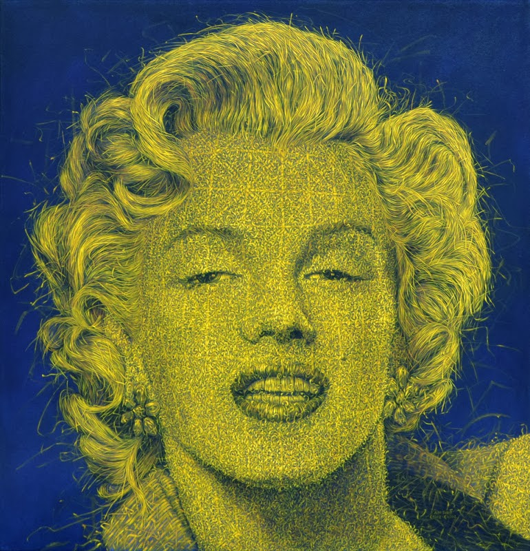 08-Marilyn-Monroe-Alexi-Torres-Woven-Oil-Paintings-www-designstack-co