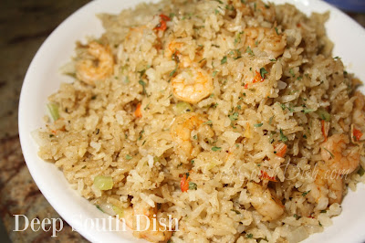 A quick and easy main dish shrimp and browned rice dish, great for the rice cooker, Instant Pot, or on the stovetop.