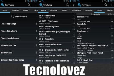 TinyTunes - Applicazione per cercare e scaricare qualsiasi brano MP3 direttamente sul vostro smartphone Android