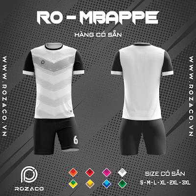 Áo Không Logo Rozaco RO-MBAPPE Màu Trắng