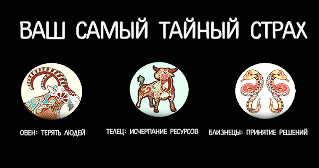 Самый тайный страх каждого знака зодиака! Фото эмоции Эзотерика страх Отношения любовь деньги