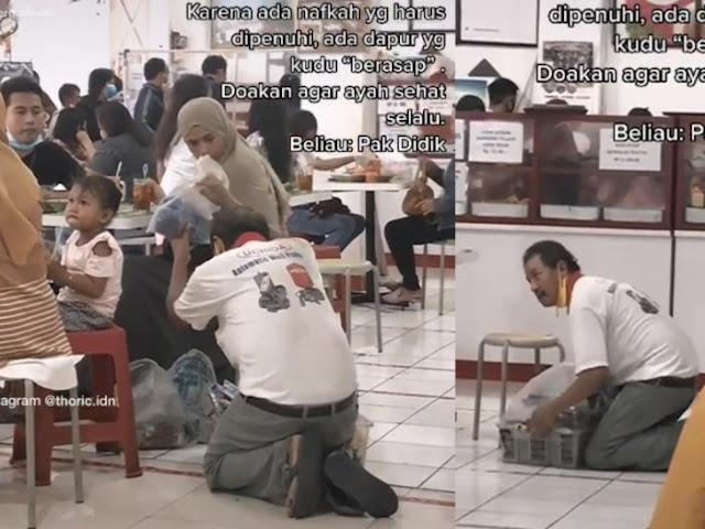 Video Haru Perjuangan Ayah Rela Berlutut Jajakan Keliling Dagangan Demi Nafkah Keluarga