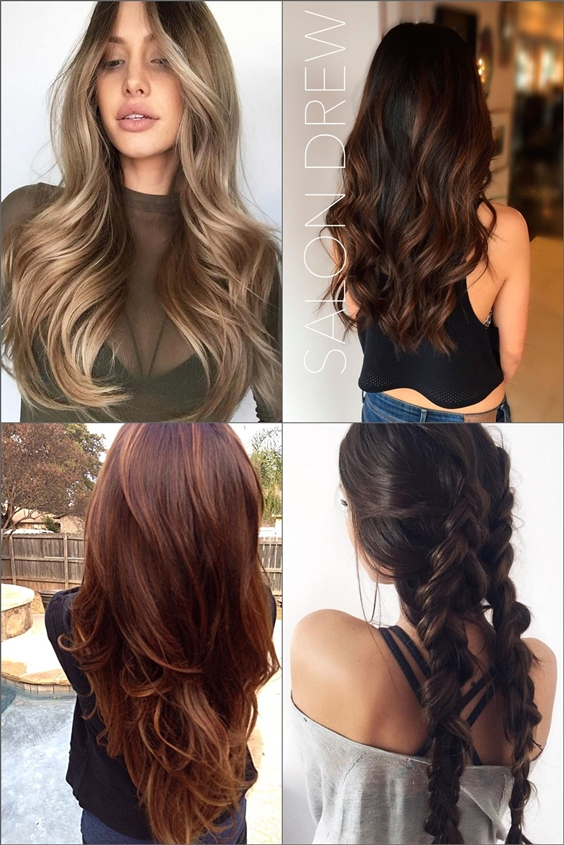 Dark brown hair color ideas with red highlights