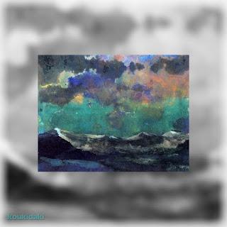 Πίνακας Emil Nolde (Dark sea - Green sky, Μαύρη θάλασσα - Πράσινος ουρανός)