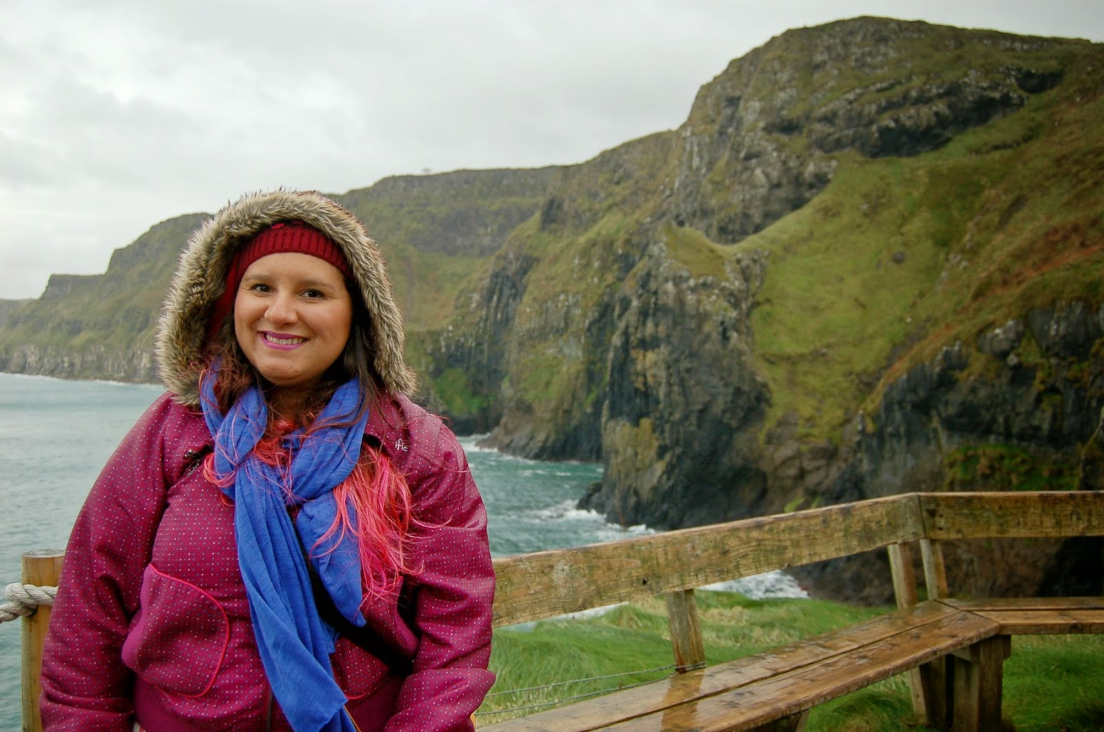 Carrick-a-Rede Bridge na irlanda do norte