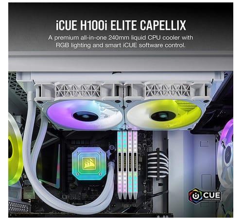 Corsair iCUE H100i Elite Capellix Liquid CPU Cooler