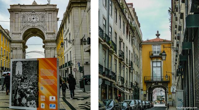 Baixa de Lisboa: Arco da Rua Augusta e Arco do Bandeira