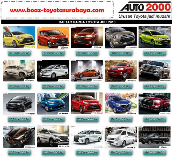 Harga Mobil Toyota Berlaku Di Jawa Timur I Pricelist Toyota Juni 2019 Harga Mobil Toyota Auto 2000 Kertajaya Surabaya Boaz Toyota