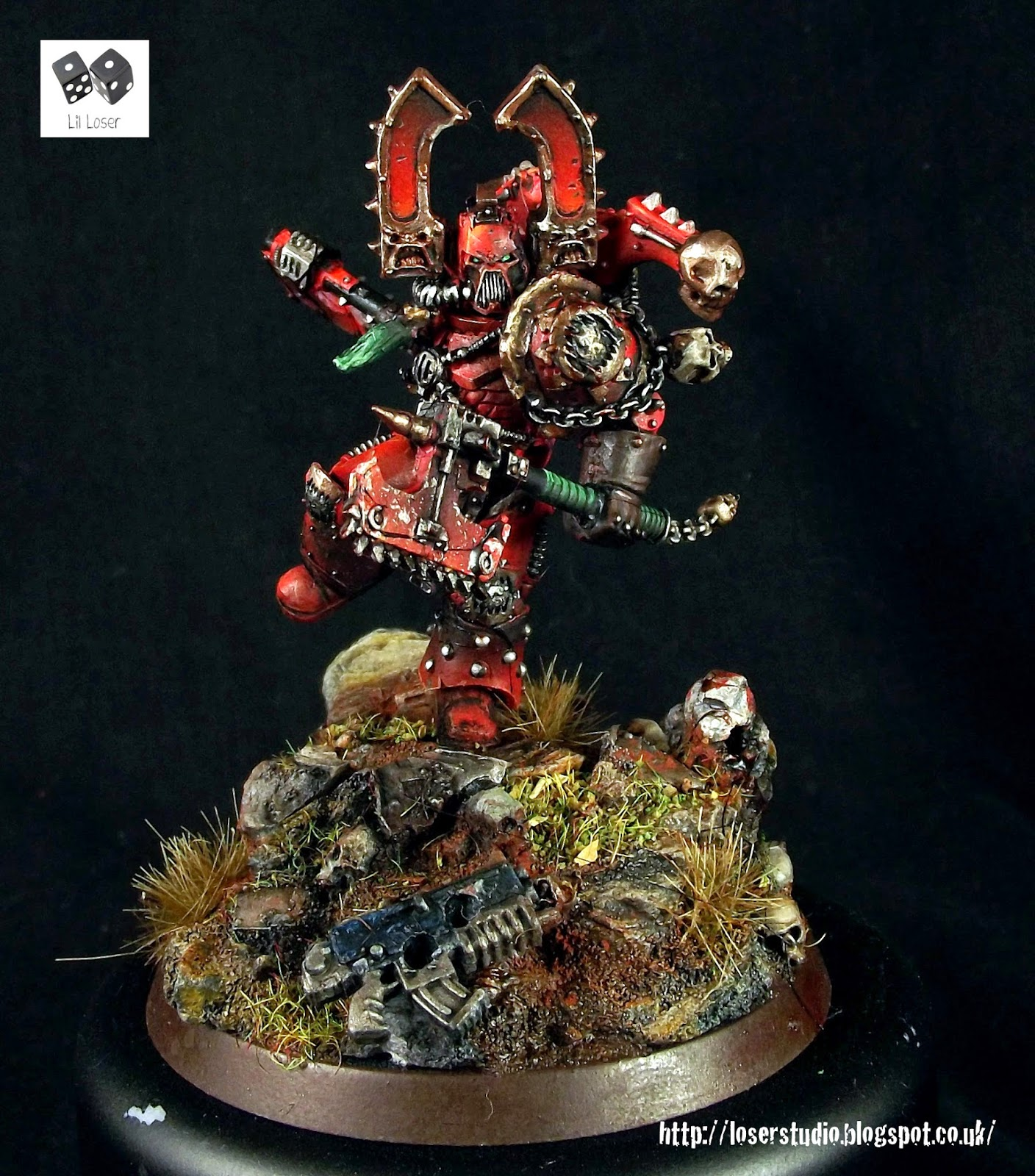 Kharn the Betrayer Heresy Miniature Conversion ~ LilLegend ...
