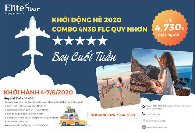 Combo FLC Quy Nhơn 4N3Đ hè 2020 - Elite Tour 01