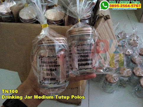 Grosir Drinking Jar Medium Tutup Polos