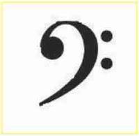 clef f atau kunci f musik
