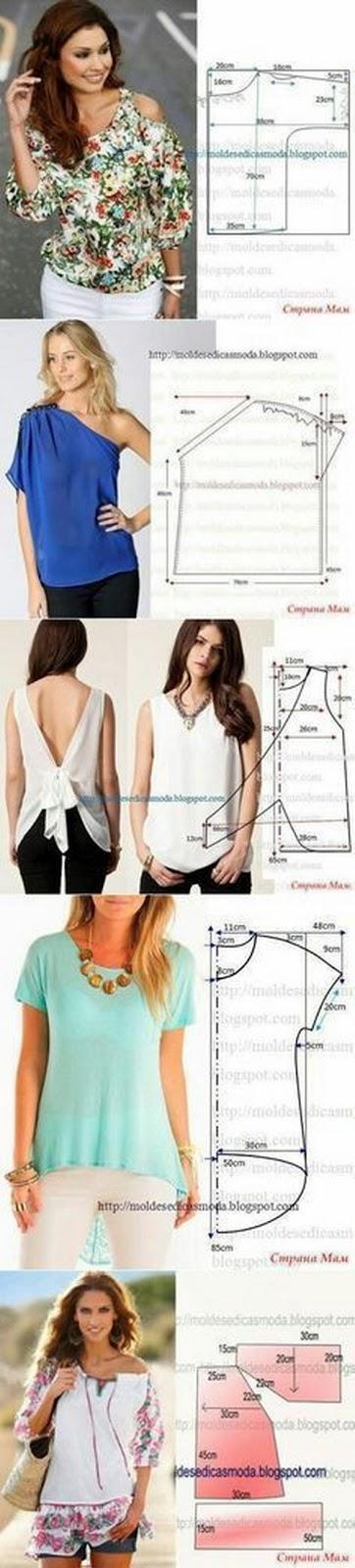 EL JARDIN DE LOS SUEÑOS: Patrones para una blusa