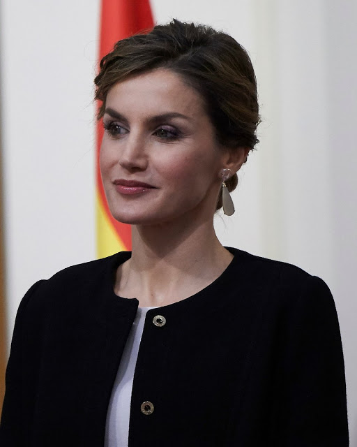 King Felipe And Queen Letizia Attended The Delivery Of The Gold Medals For Merit