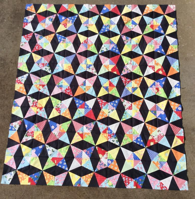 how to make a kaleidoscope quilt