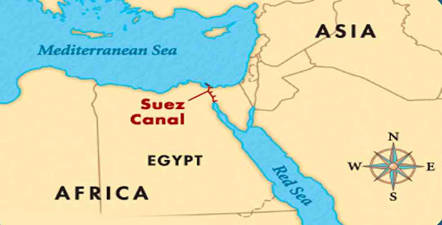 Suez Canal is located in which country?