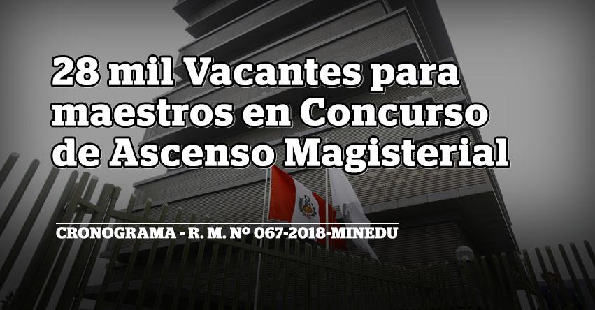MINEDU anuncia 28 mil vacantes para maestros en concurso de ascenso magisterial - www.minedu.gob.pe