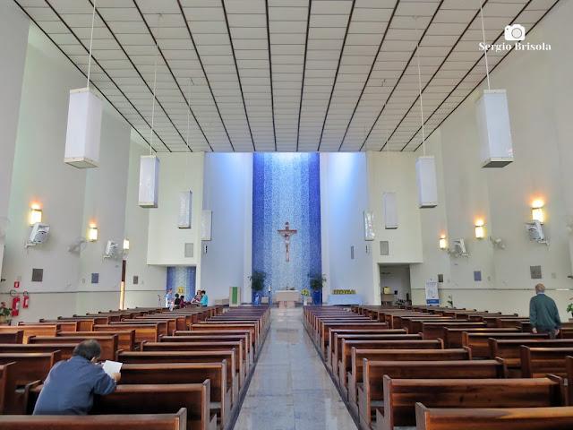 Vista do interior da Paróquia Santíssimo Sacramento - Paraíso - São Paulo